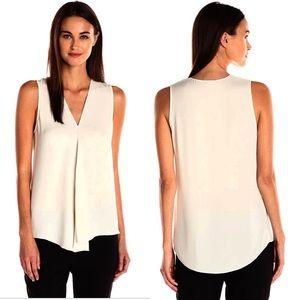 Theory Meighlan Modern Silk Sleeveless Blouse